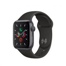 Apple Watch Series 5 GPS 40 mm Boitier en Aluminium Gris Sidéral avec Bracelet Sport Noir