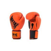 Gants super entraînement et compétiton Metal Boxe Orange et Noir Taille 12 OZ - Boxe