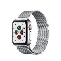 Apple Watch Series 5 Cellular 40 mm Boîtier en Acier Inoxydable avec Bracelet Milanais