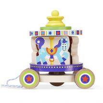 Carrousel Melissa & Doug Pull Toy - Jouet à tirer ou à pousser en bois