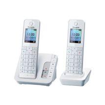 Téléphone Fixe sans fil Panasonic KX-TGH222FRW Duo Blanc - Téléphone sans fil