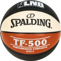 Ballon de basket Spalding TF 500 LNB Taille 6 Noir et Orange - Ballon
