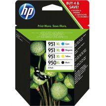 Pack de 4 cartouches d'encre HP 951XL + 950XL Cyan, Magenta, Jaune et Noir