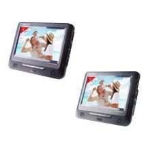 Lecteur DVD portable Takara VRT179 double écran 9 Noir - Lecteur DVD portable