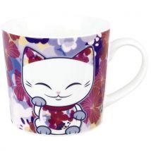 Tasse en porcelaine Mani the Lucky Cat 52 Rose - Accessoire bureautique