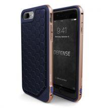 Coque Xdoria Defense Lux Bleu et Or pour iPhone 7 Plus - Etui pour téléphone mobile