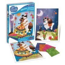 Tableaux à velouter Lamas espiègles Art & Créations SentoSphère - Kit loisir créatif