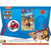 Pack La Pat' Patrouille en Mission ! Nintendo Switch + Figurine et Mini Fire Cart Marshall La Pat' Patrouille Ultimate Rescue Rouge