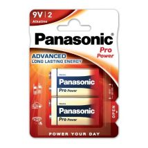 Pack de 2 piles Panasonic Pro Power LR61 9V