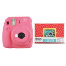 Appareil Photo Instantané Fujifilm Instax Mini 9 Rose Corail + Album photo Rose pour 32 photos