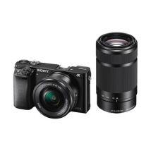 Caméra Hybride Sony A6000 Noir + Objectif 16-50mm PZ + Objectif 55-210mm