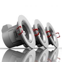 Lot de 3 spots intégrés Xanlite 6 W (50 W) Lumière dimmable Blanc chaud - Équipement électrique pour luminaire