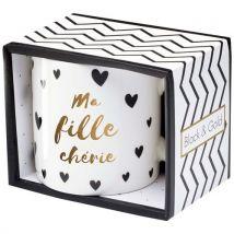 Mug Draeger Black and Gold Ma Fille Chérie - Carnet, journal intime