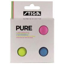 4 balles de Ping Pong Tennis de table Stiga Pure - Accessoire de tennis de table