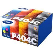 Pack de 4 toners Samsung CLT-P404C cyan, jaune, magenta et noir authentique