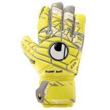 Gants de football Uhlsport Eliminator Unlimited Supersoft Taille 7,5 Jaunes - Football