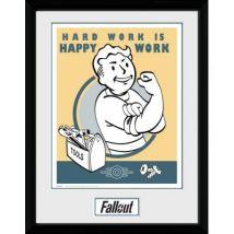 Poster Emoldurado GB Posters Fallout Hardwork