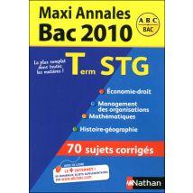 Maxi annales term stg bac 2010 - broché
