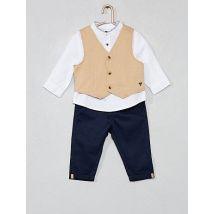 Setje met vest, overhemd en broek Kiabi. Maat: 62