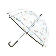 Transparante paraplu met leuke print Kiabi. Maat: een-maat