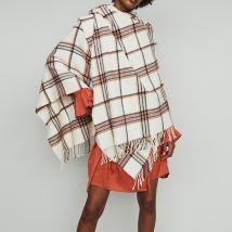Poncho in stripes Multico - Maje - Women