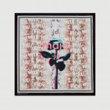 Oversize silk square scarf Multico - Maje - Women