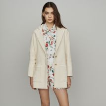 Tweed-style coat Ecru - Maje - Women