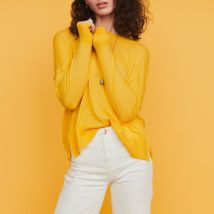 Oversize sweater in cashmere Yellow - Maje - Women