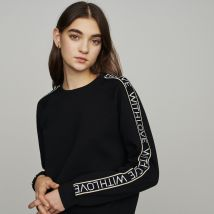 Sweat With Love on sleeves Black - Maje - Women