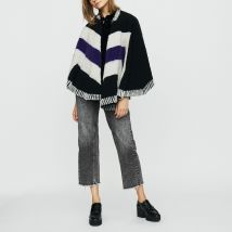 Poncho With Sheepskin - TU - - Maje