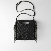 Quilted leather M bag Noir - Maje - Women