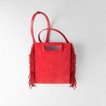 Suede M bag Red - Maje - Women
