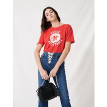 Denim Blue Jeans With Lace Fastening - T40 - Blue - Maje