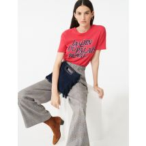 Checked Elasticated Trousers - T36 - Grey - Maje