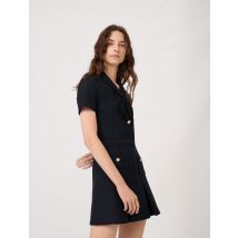 College-style Dress With Fancy Buttons - T42 - Navy - Maje