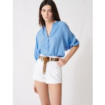 Belted Denim Shorts - T36 - White - Maje
