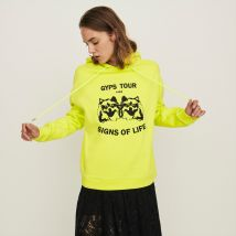 Embroidered Hooded Sweatshirt - T2 - Yellow - Maje