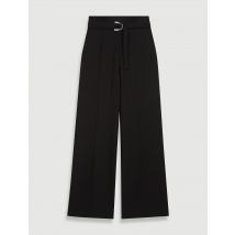 Wide Belted Trousers - T12 - Black - Maje