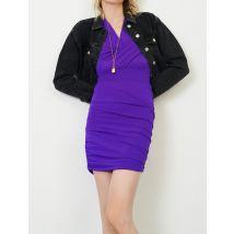 Dress In Stretch Technical Fabric - T10 - Purple - Maje
