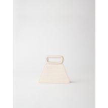 Mini Pyramid Bag With Embossed Leather - TU - Off White - Maje
