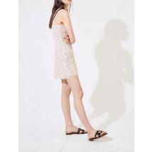 Macramé-style Strappy Dress - T12 - Beige - Maje