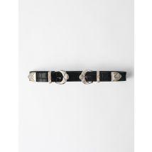 Western Double Buckle Belt - T10 - Black - Maje