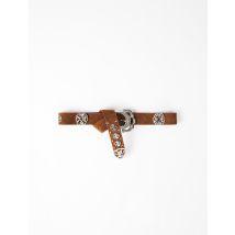 Berber-style Leather Belt - T12 - Tobacco - Maje
