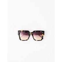 Brown Square Sunglasses - TU - Scale - Maje