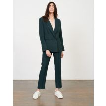 Double-breasted Suit Jacket - T8 - Dark Green - Maje