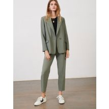 Fresco Wool Suit Trousers - T6 - Khaki - Maje