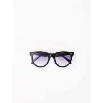 Round Acetate Sunglasses - TU - Black - Maje