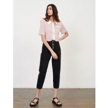 Belted Wide Jeans - T12 - Black - Maje