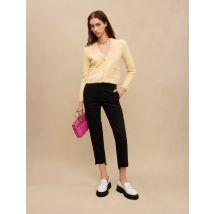 Straight Pants With Belt - T12 - Black - Maje