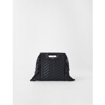 Quilted Leather Mini M Bag With Chain - TU - Black - Maje